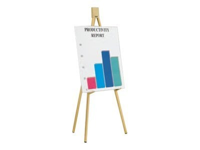 Da-Lite Heavy-Duty Dual Purpose Gold Display Easel, 6ft