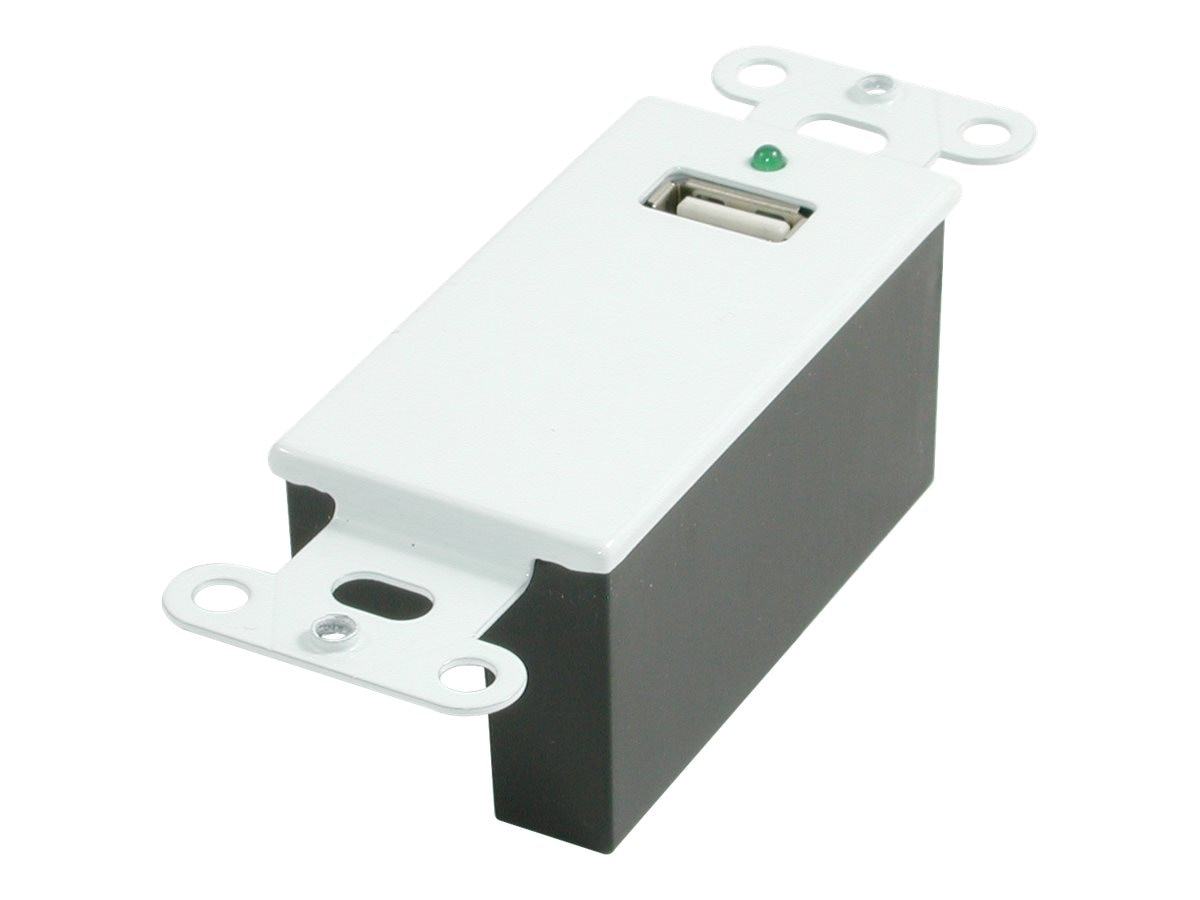 C2G USB Superbooster Wall Plate, White, 29342, 7893518, Premise Wiring Equipment