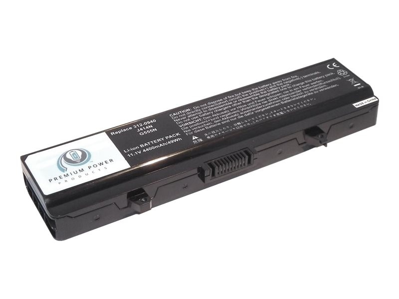 Ereplacements Laptop battery for Dell Inspiron 1440, Inspiron 1750. J414N, G555N, J399N, PW640, F972N, 312-0940-ER, 12451626, Batteries - Notebook