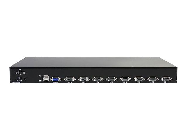 StarTech.com Rack Mount USB KVM Switch Kit with OSD and Cables, 8-Port, 1U, SV831DUSBUK