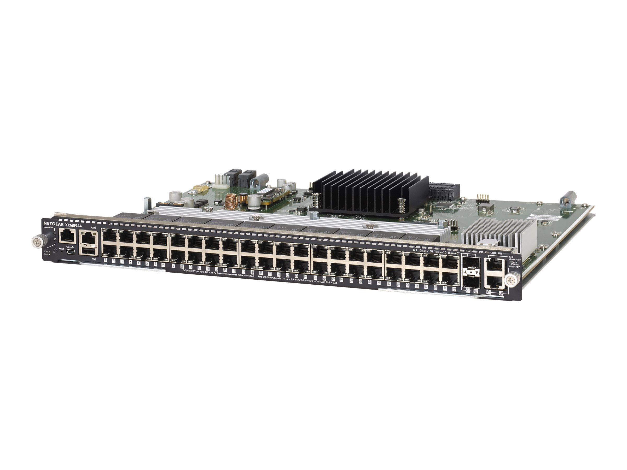 Netgear M6100 Chassis Series 40x1G and 4x10G Blade, XCM8944-10000S, 18366115, Network Switches