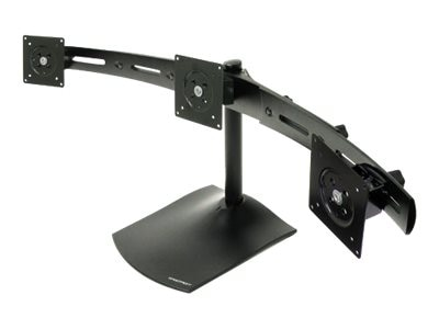 Ergotron DS100 Triple-Monitor Desk Stand, Horizontal, 33-323-200