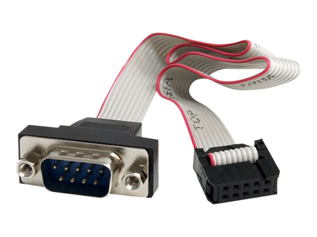 StarTech.com Motherboard Header Panel Mount Cable, 9-Pin Serial to 10-Pin, 16in, PNL9M16, 13409913, Cables