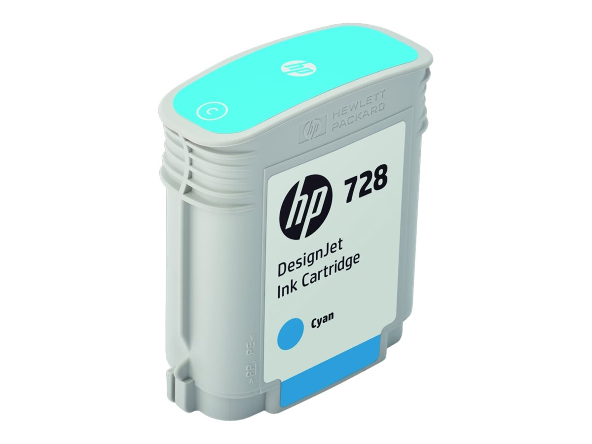 HP 728 (F9J63A) 40ml Cyan Designjet Ink Cartridge for HP DesignJet T730 & T830 Series