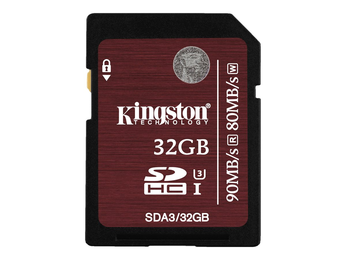 Kingston 32GB SDHC Flash Memory Card, Class 3