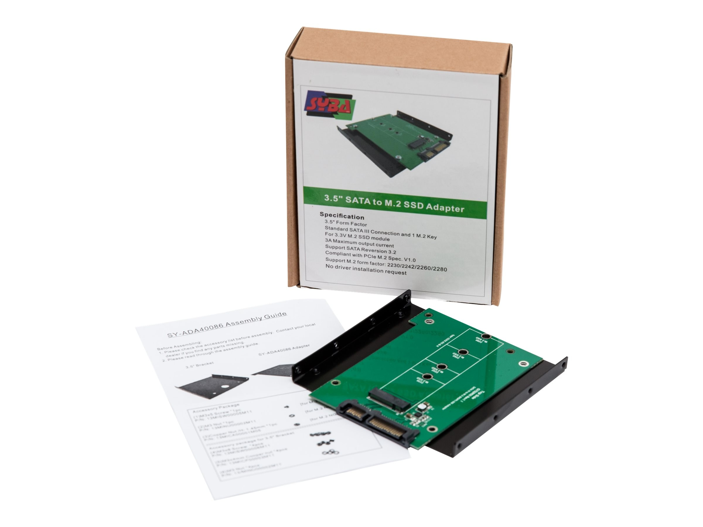 Syba M.2 (NGFF) Solid State Drive to 2.5 SATA 6Gb s Adapter