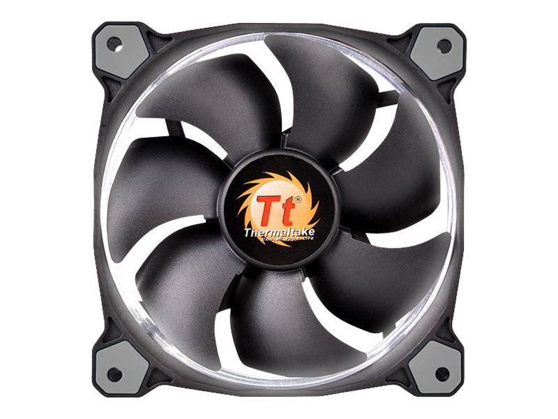 Thermaltake Riing 12 High Static Pressure Radiator Fan 120mm LED 1500 RPM, White