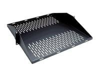 Middle Atlantic Vented Center Mount Shelf, 2U x 18d, Black Powder Coat, U2MS, 12209522, Rack Mount Accessories