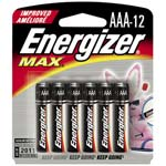 Energizer 1.5 volt AAA Alkaline batteries, 12-pack, E92BP-12, 7725936, Batteries - Other