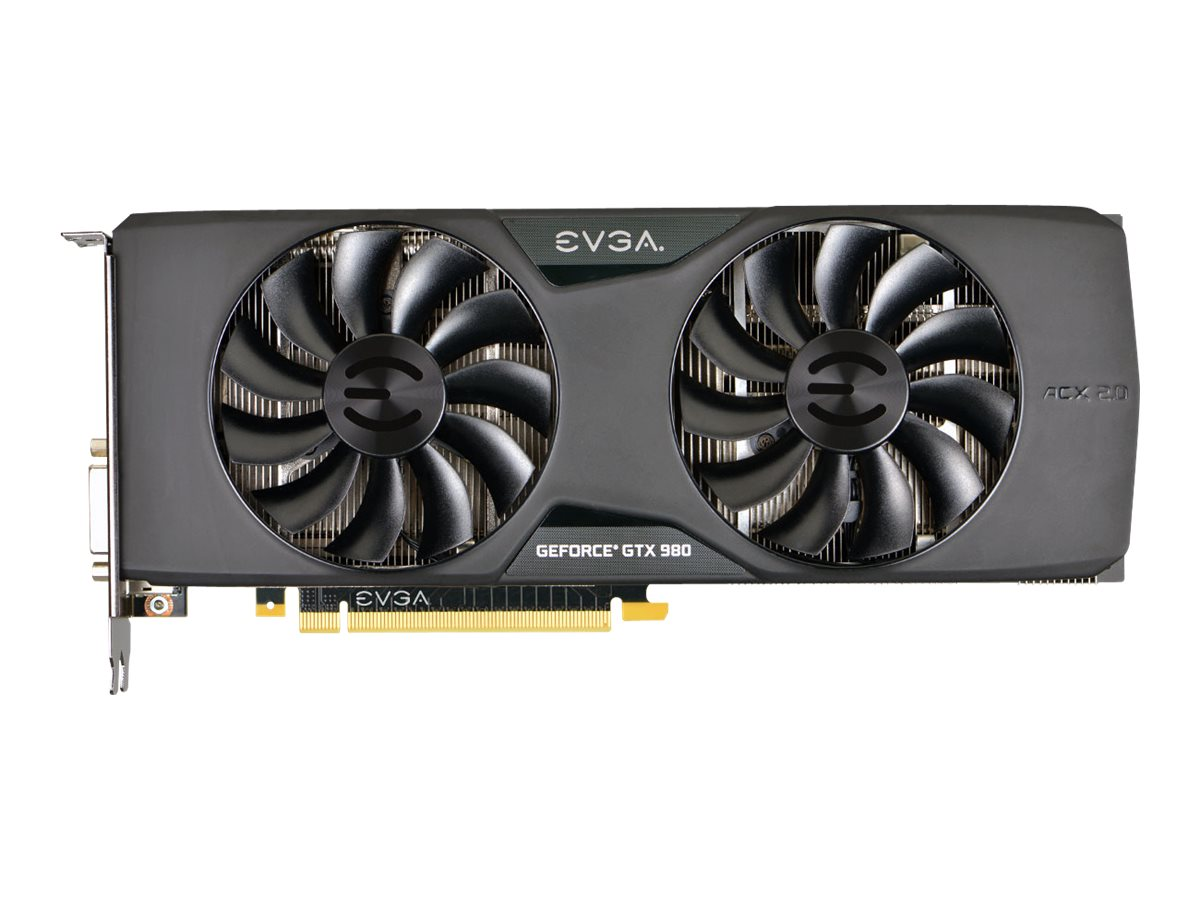 eVGA GeForce GTX 980 Superclocked PCIe 3.0 x16 Graphics Card, 4GB GDDR5, 04G-P4-2983-KR, 17931434, Graphics/Video Accelerators