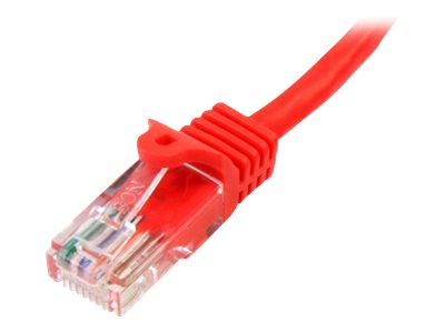 StarTech.com Cat5e Snagless Patch Cable, Red, 3ft, 45PATCH3RD