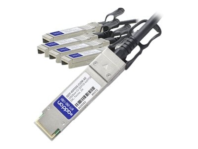 ACP-EP 100GBase-CU QSFP28 to 4xSFP28 Passive Twinax Direct Attach Cable, 2m, QSFP-4SFP25G-CU2M-AO