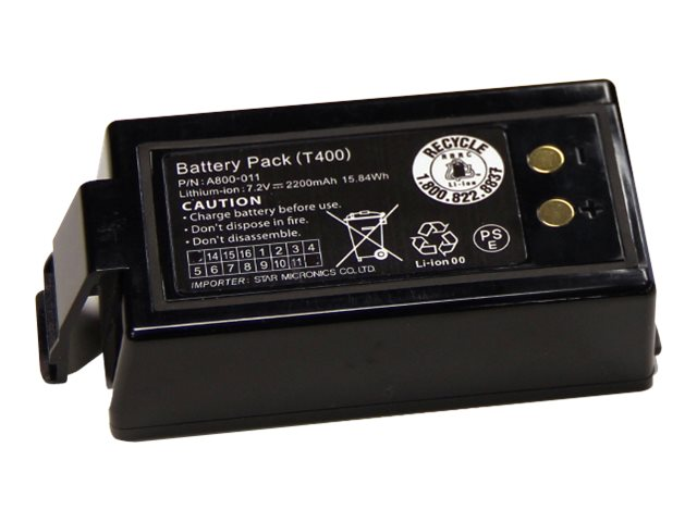 Star Micronics Single Battery Pack for SM-T400I, 39569350