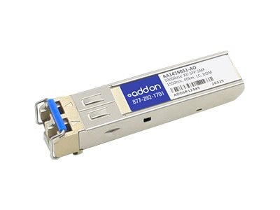 Add On 1000BASE-EX SFP SMF For Nortel 1550NM 40KM LC DOM, AA1419051-AO, 16223348, Network Transceivers