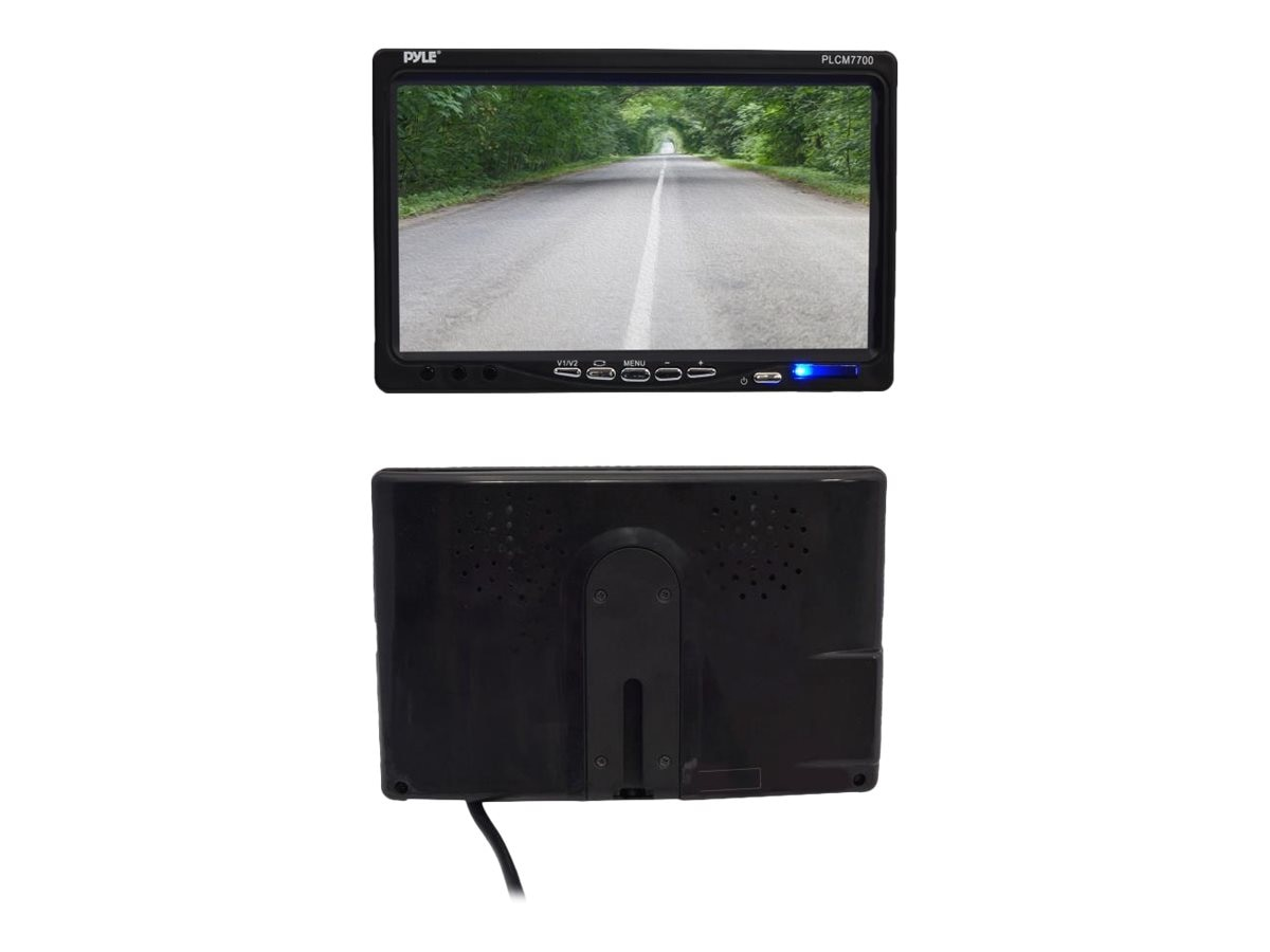 Pyle 7 Window Suction Mount LCD Video Monitor with Universal Mount Rearview, Backup Color Camera, PLCM7700