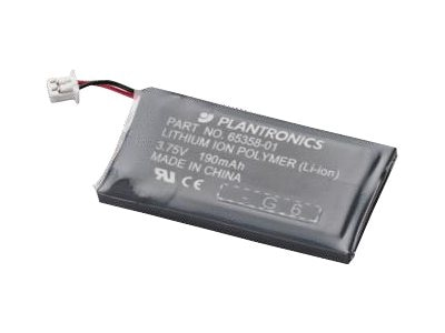 Plantronics Battery, Li-Ion Polymer for CS50, CS55, CS55H and CS50-USB Wireless Office Headsets, 64399-01