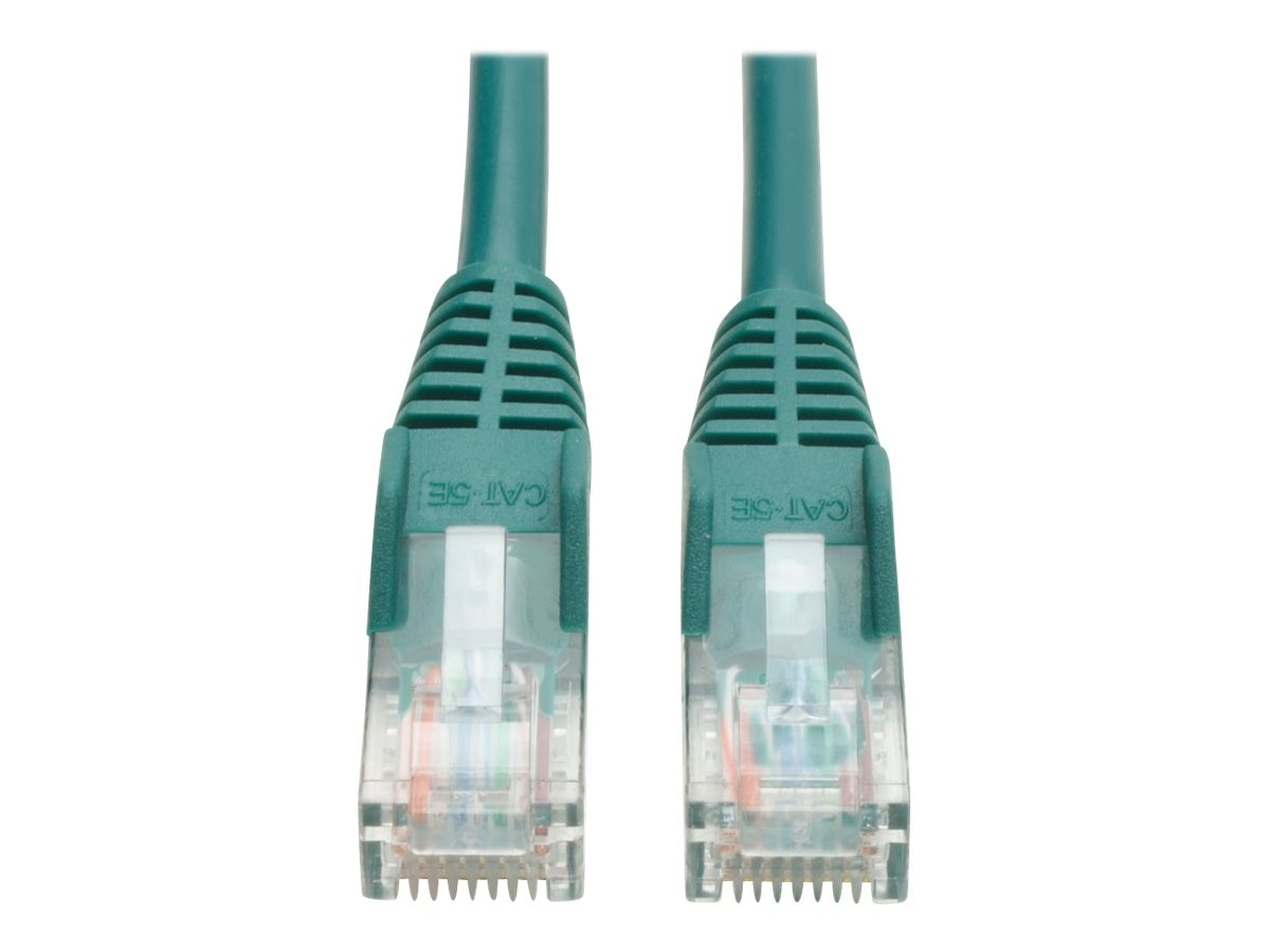 Tripp Lite Cat5e RJ-45 M M Snagless Molded Patch Cable, Green, 15ft