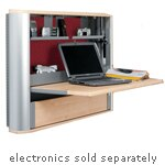 Ergotron eNook Wall-Mounted Worktation with Garnet Fabric Back Panel, Maple, EK3616MG/MS, 19799975, Wall Stations