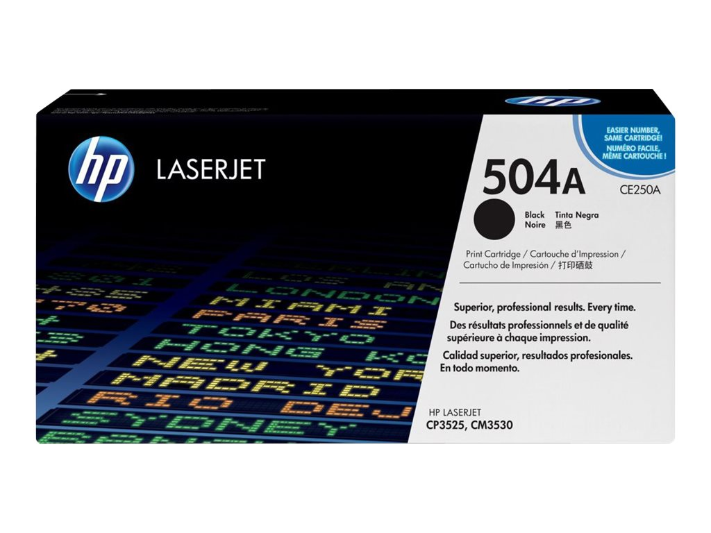 HP HP 504A, Black Original LaserJet Toner Cartridge