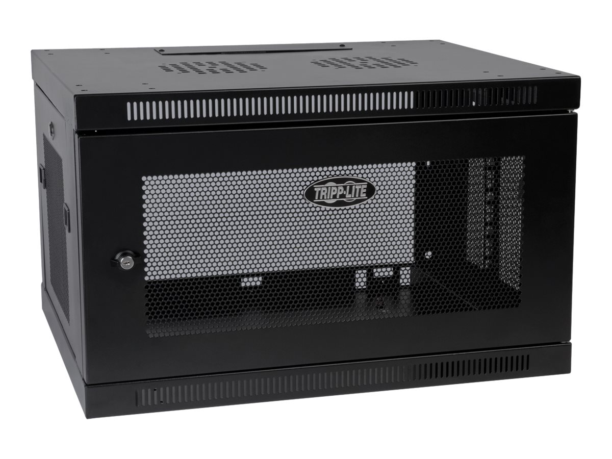 Tripp Lite SmartRack 6U Low-Profile Switch-Depth-Plus Wall-Mount Rack Enclosure Cabinet, SRW6UDP