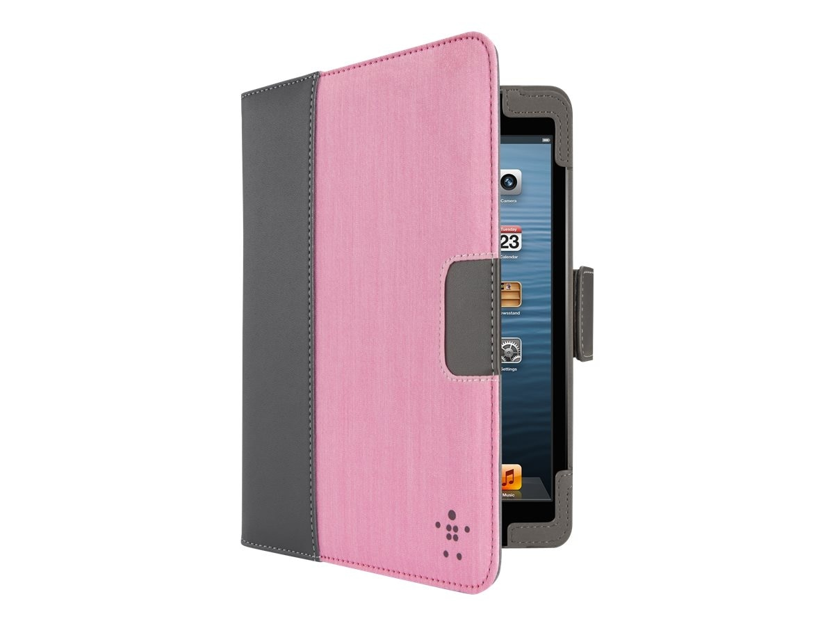 Belkin Chambray Tab Cover with Stand for iPad mini, Pink, F7N004TTC03