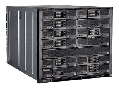 Lenovo TopSeller Flex System Enterprise Chassis CMM2 4xIO Bays 2x2500W, 8721E5U, 30863763, Cases - Systems/Servers