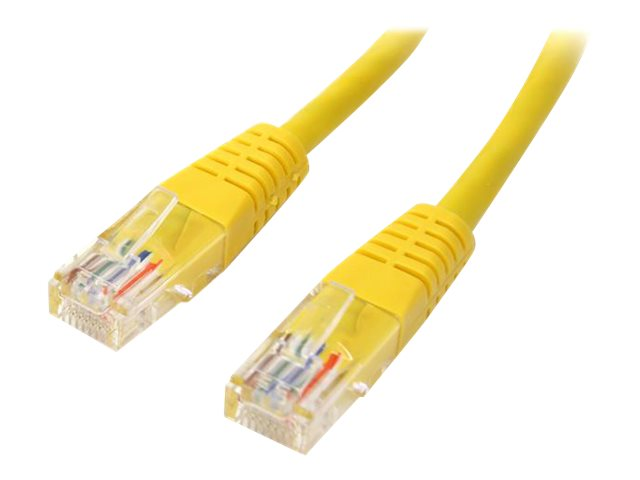 StarTech.com Cat5e Molded UTP Patch Cable, Yellow, 20ft, M45PATCH20YL