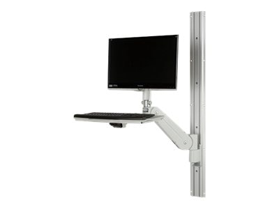 Rubbermaid Standard RMS Fluid Arm with Keyboard Tray and 48 Track, 1832516, 13772510, Stands & Mounts - AV