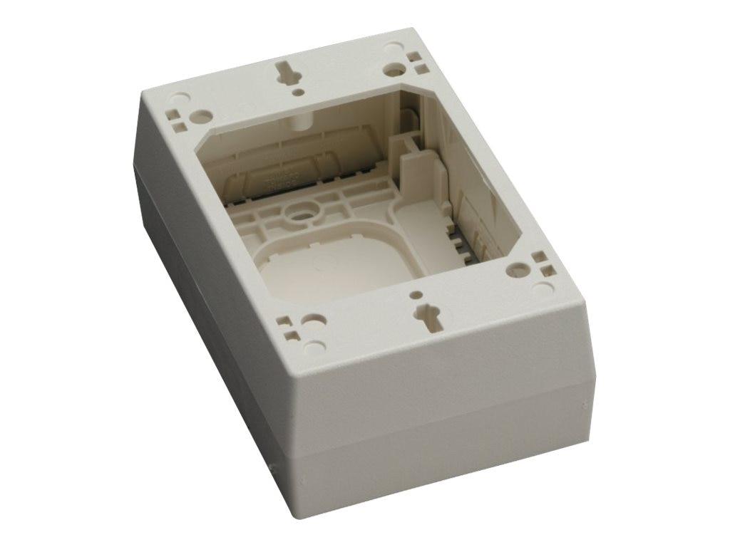 Black Box Raceway Surface-Mount Box, 2-Piece Single-Gang, Ivory, 36974, 13555751, Premise Wiring Equipment