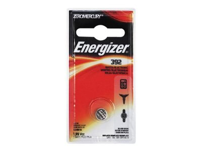 Energizer Battery Type 392 Zero Mercury (1-pack), 392BPZ, 12941043, Batteries - Other