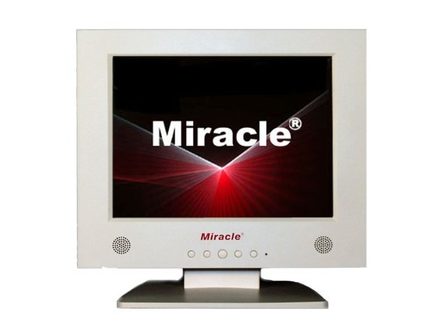 Miracle Business 10.4 LD118A Analog LCD Monitor, White, LD118A, 6583649, Monitors - LCD