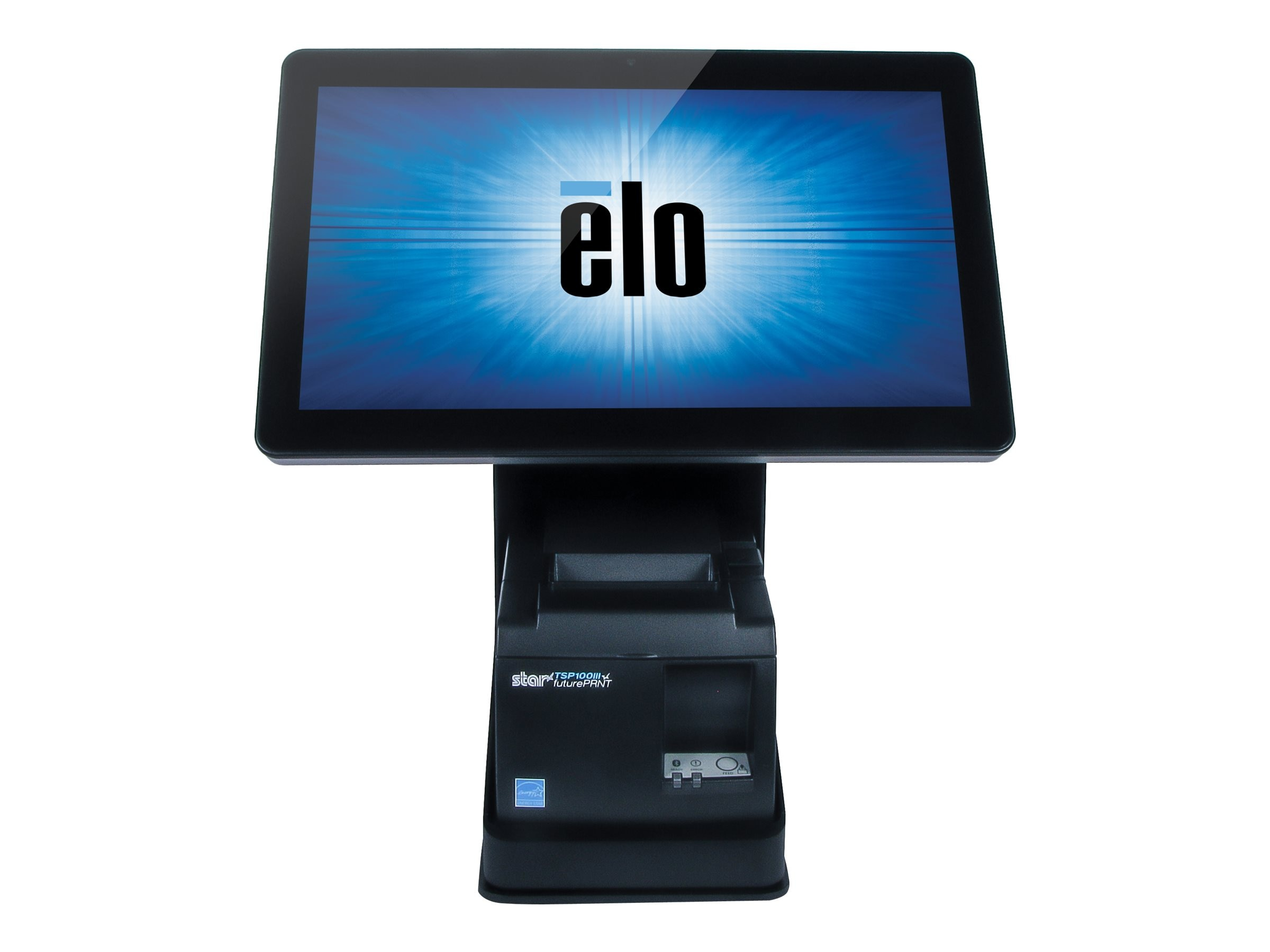 ELO Touch Solutions mPOS Printer Stand for 10 and 15 I-Series, Black, E353950