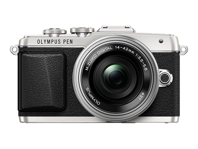 Olympus PEN E-PL7 Mirrorless Micro Four Thirds Digital Camera with 14-42mm f 3.5-5.6 II R Lens, Silver, V205071SU000, 17764939, Cameras - Digital - SLR