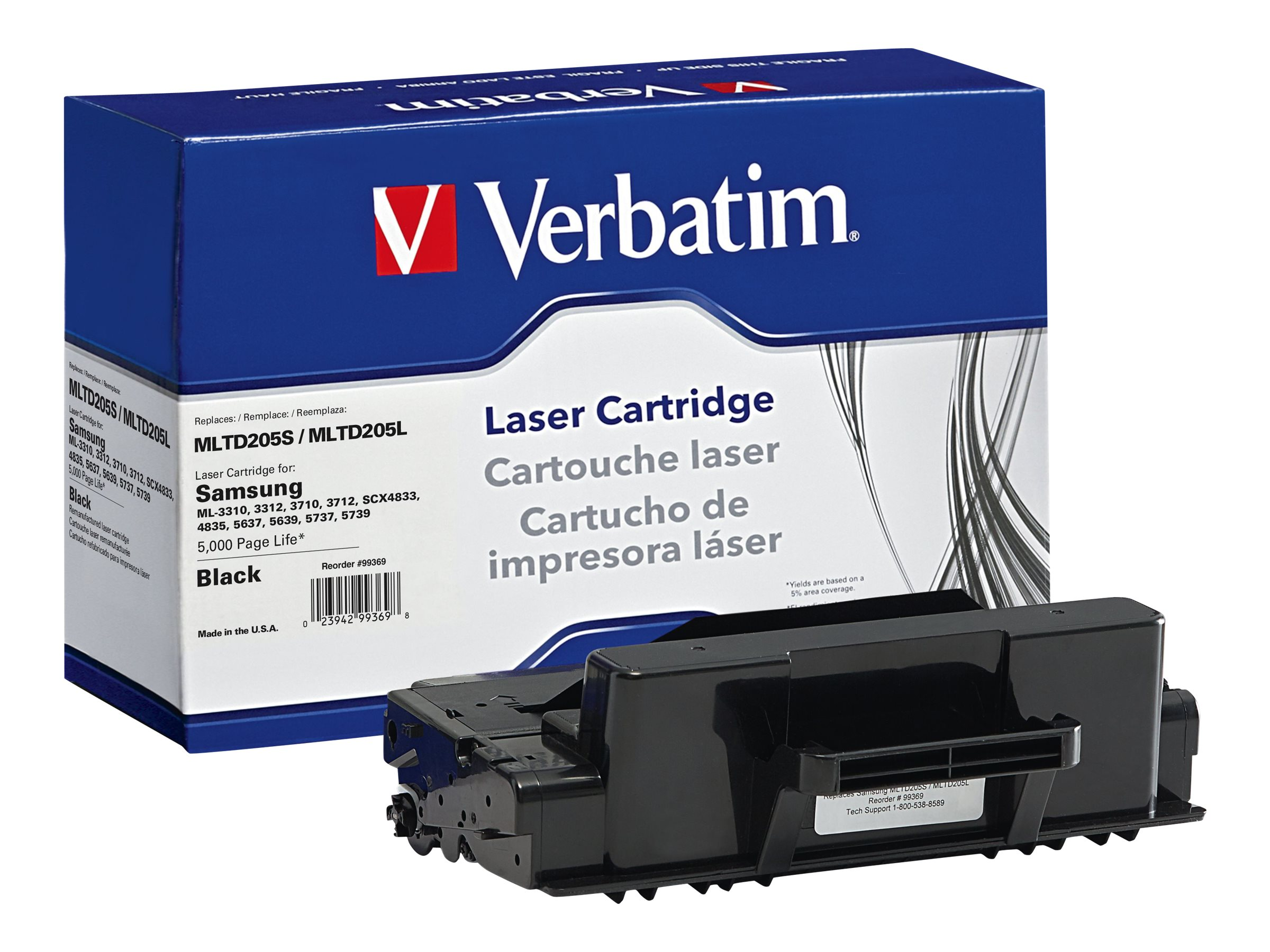 Verbatim MLTD205S MLTD205L Toner Cartridge for Samsung, 99369