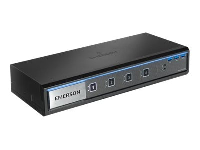 Avocent SV340H Desktop KVM, 4-port, Dual-head HDMI, (3) Front-panel USB 3.0 Ports, Audio, SV340H-001, 24348335, KVM Switches