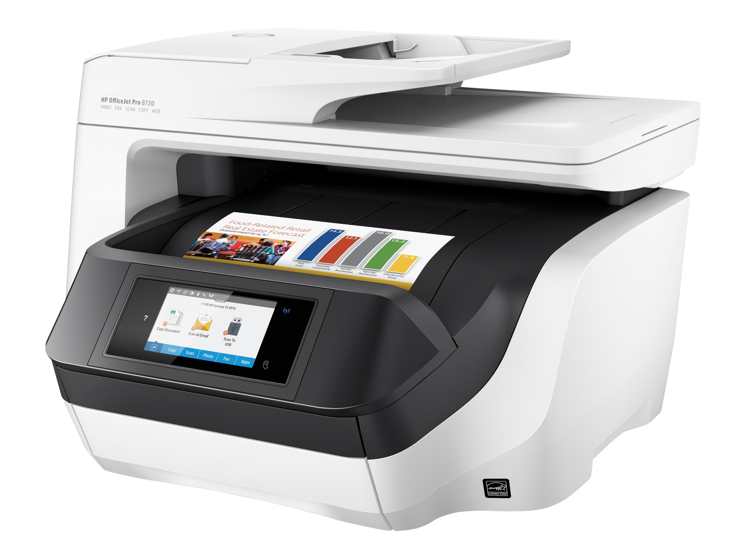 Open Box HP Officejet Pro 8720 All-In-One Printer