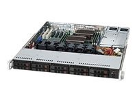 Supermicro 1U SuperChassis, 700W HE PS, Black