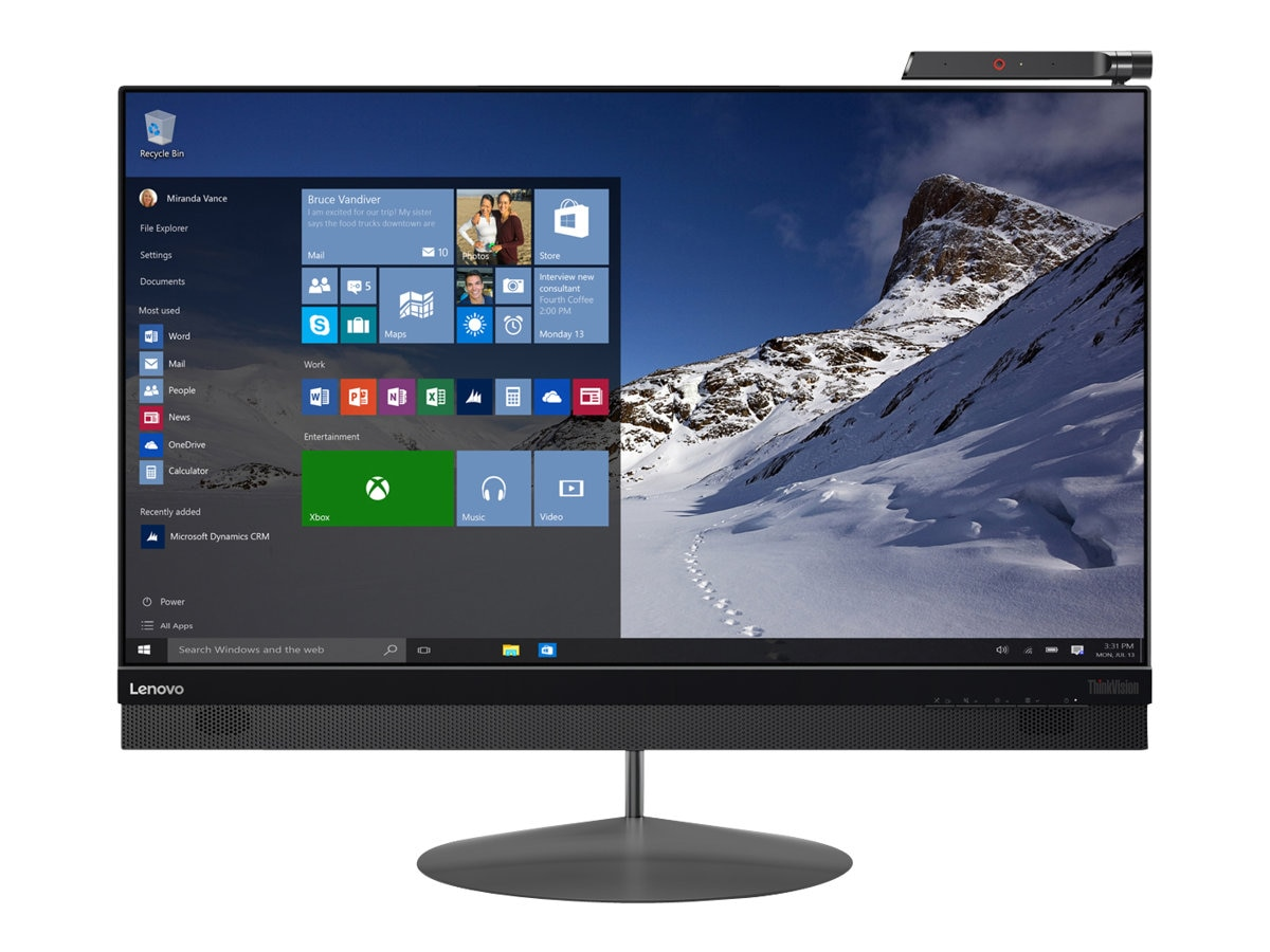Lenovo 27 ThinkVision X1 4K Ultra HD LED-LCD Monitor with Camera, Black, 60E2GAR1US