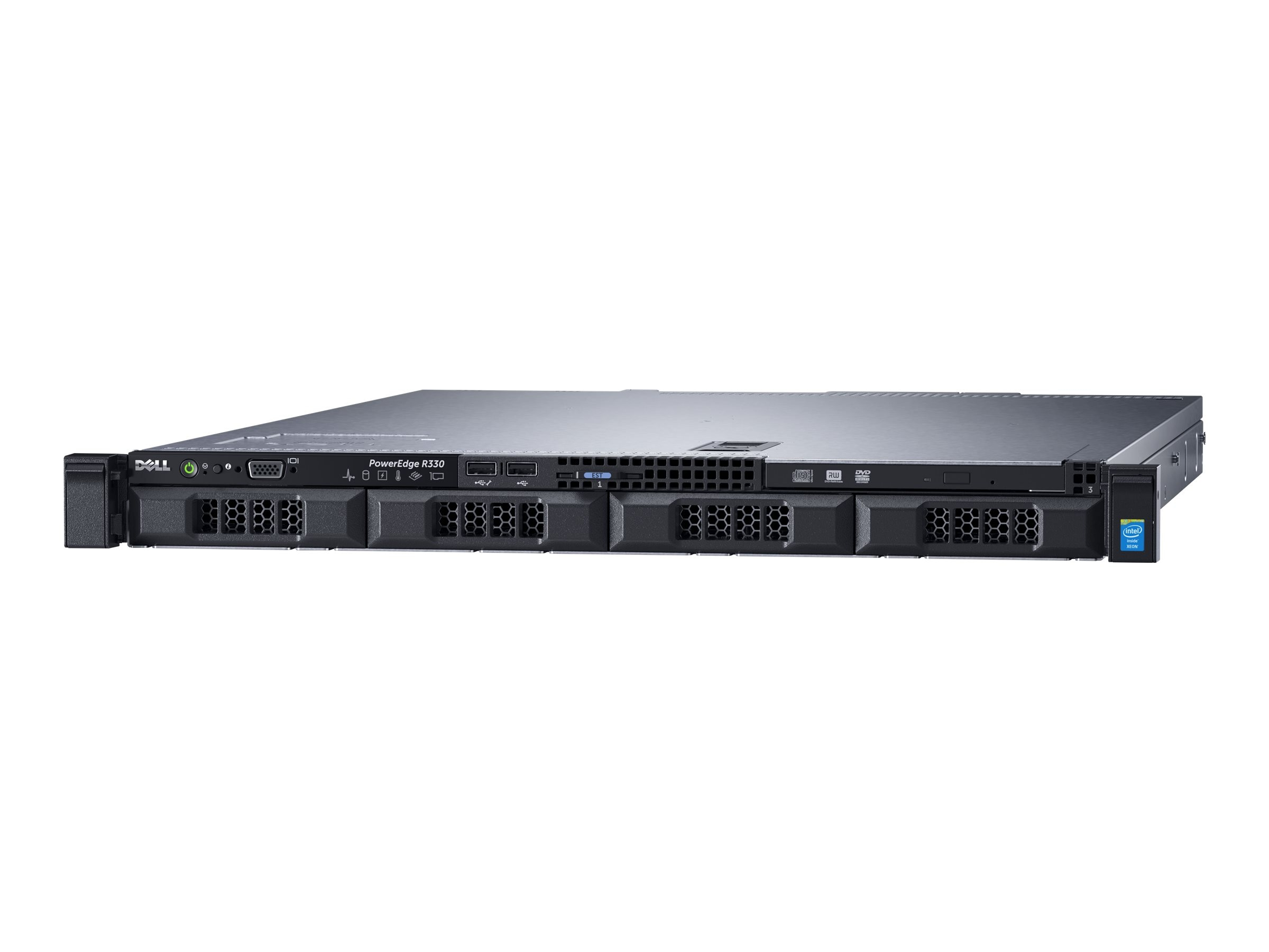Dell PowerEdge R330 1U RM Xeon QC E3-1240 v5 3.5GHz 8GB 1x1TB 4x3.5 HP Bays H330 DVD 2xGbE 350W