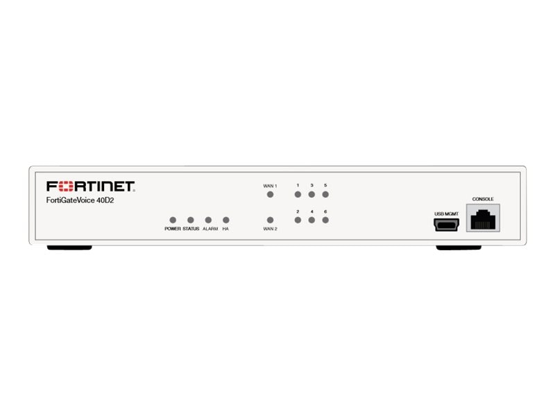 Fortinet FortiGate Voice 40D2 w 24x7 FC & FG (1 Year)