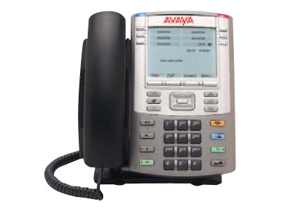 Avaya IP Phone 1140E with Text Keycaps, Graphite