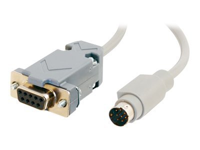 C2G Communication Cable, DB9 (F) to 8-Pin (M), Gray, 6ft, 25041, 8719271, Cables