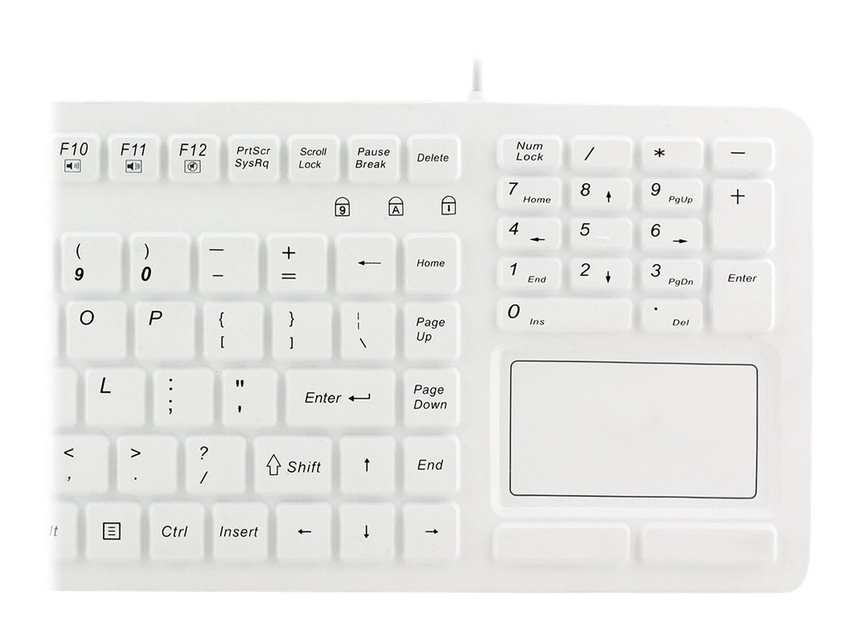 Adesso Antimicrobial Waterproof Silicone Touchpad Keyboard, AKB-270UW