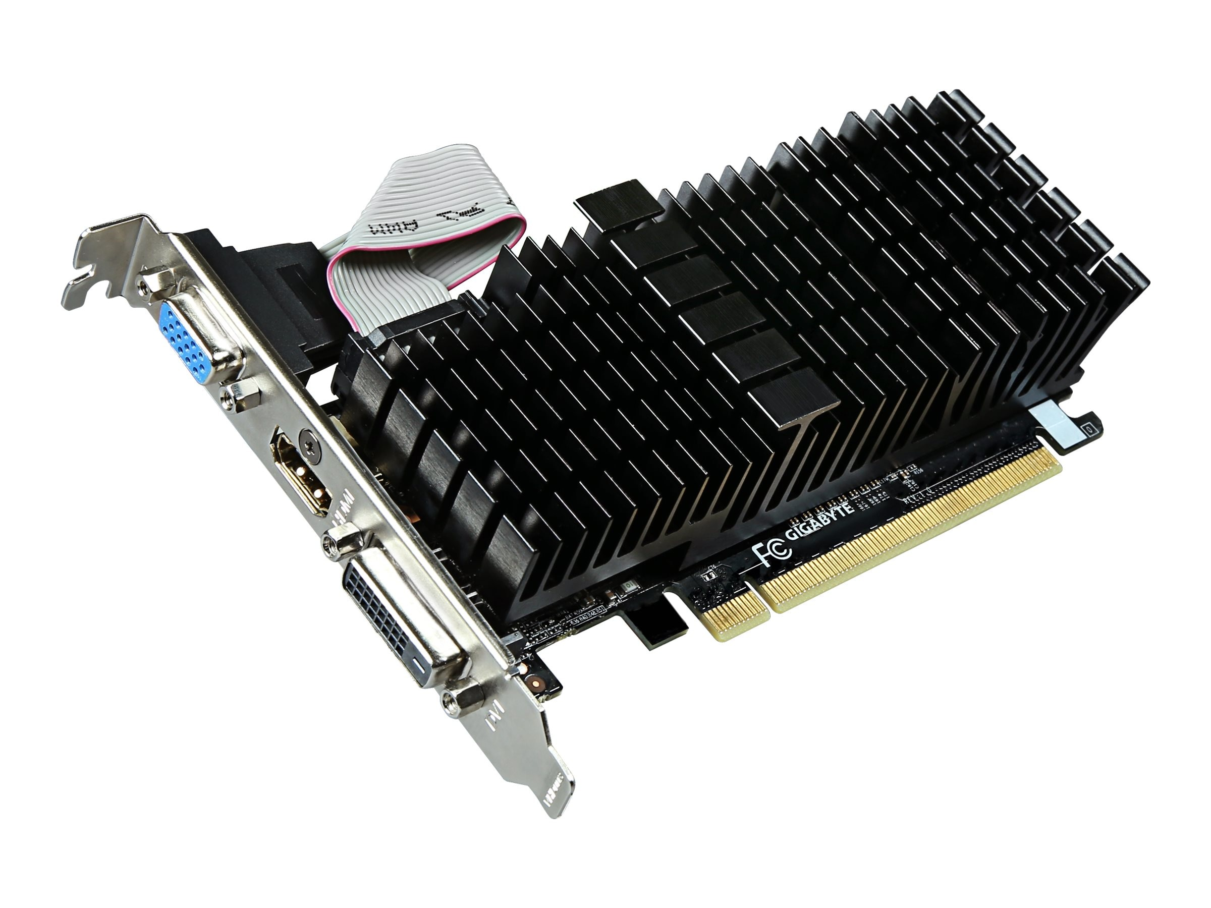 Gigabyte Tech GeForce GT 710 PCIe 2.0 Low-Profile Graphics Card, 2GB DDR3
