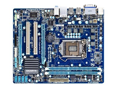 Gigabyte Tech Motherboard, H61 Express, Core i7, MATX, Max 16GB DDR3, 2PCIEX16, 2PCI, GBE, Audio, SATA, GA-H61M-D2P-B3, 12744779, Motherboards