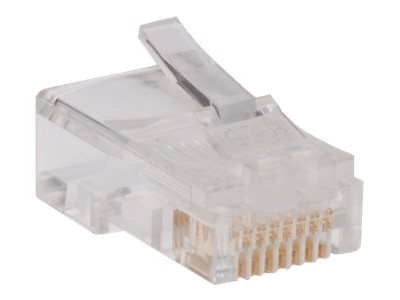 Tripp Lite RJ-45 Connectors for Solid Stranded Cable, 100-Pack, N030-100, 14482688, Cable Accessories