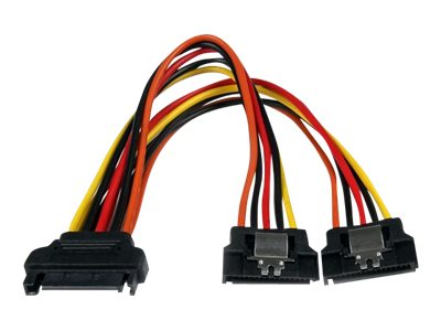 StarTech.com SATA Power Splitter Cable, Latching, 6in, PYO2LSATA, 15300532, Cables