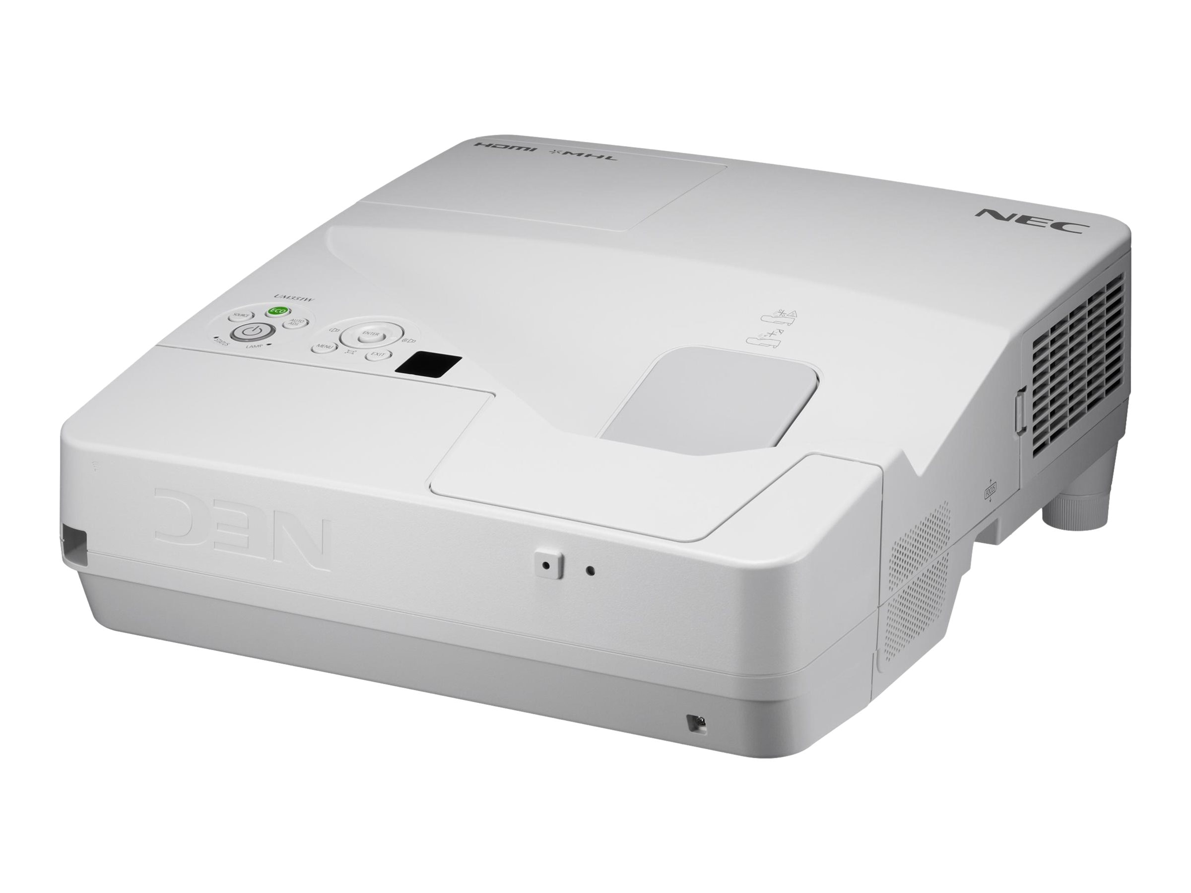 NEC UM361X Ultra Short Throw LCD Projector, 3600 Lumens, White, NP-UM361X, 18193120, Projectors