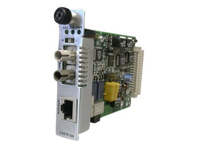 Transition Remote Managed T1 Converter Card RJ-48 to 1310TX 1550RX SM, CSDTF1029-120, 11440175, Network Transceivers