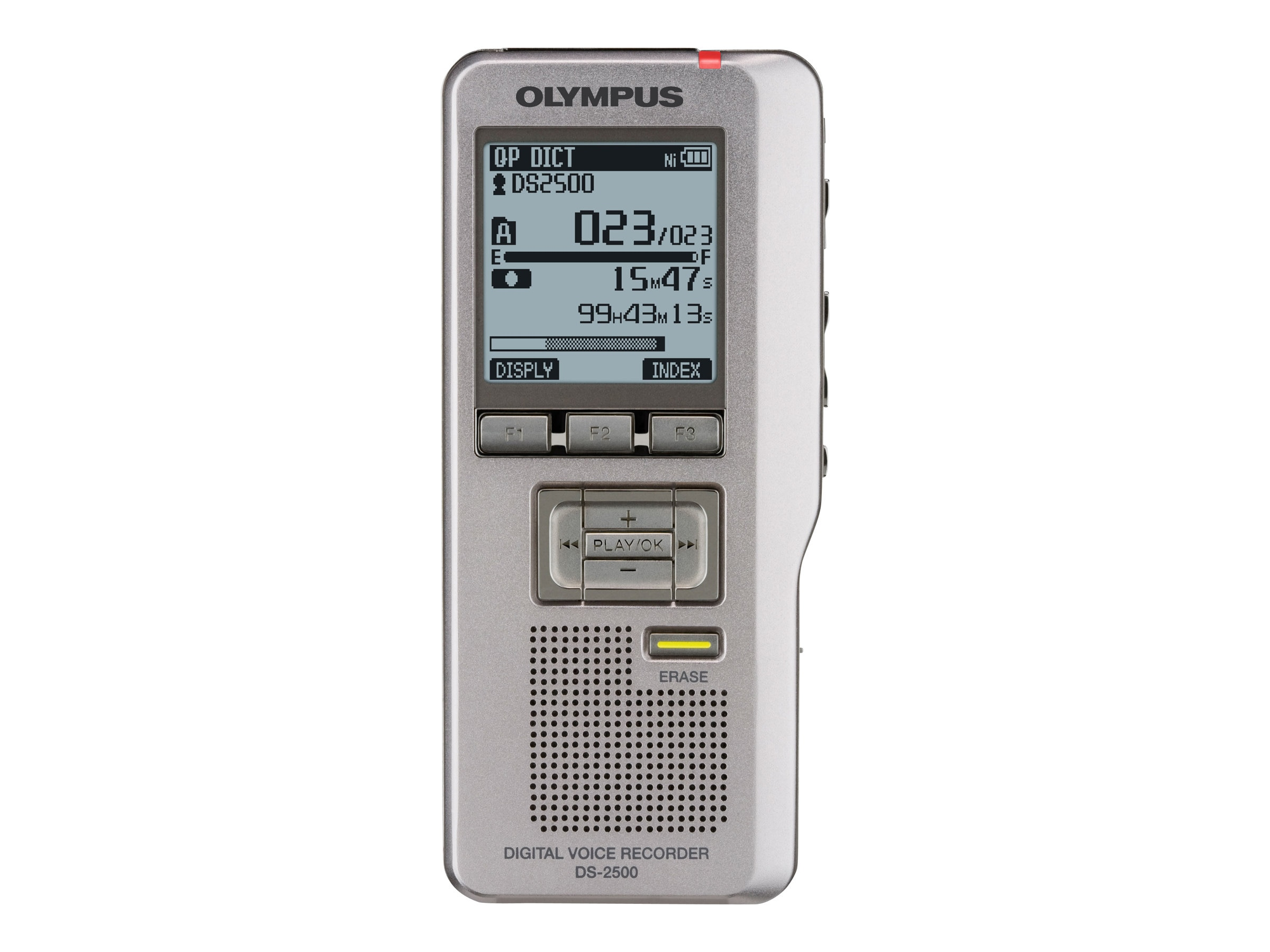 Olympus DS-2500 Digital Voice Recorder, Silver, V403121SU000